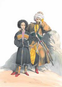 Убых с сыном - рисунок Гагарина Г. Г.